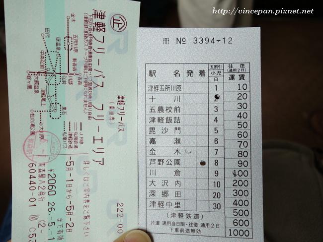 津輕鐵道 車票