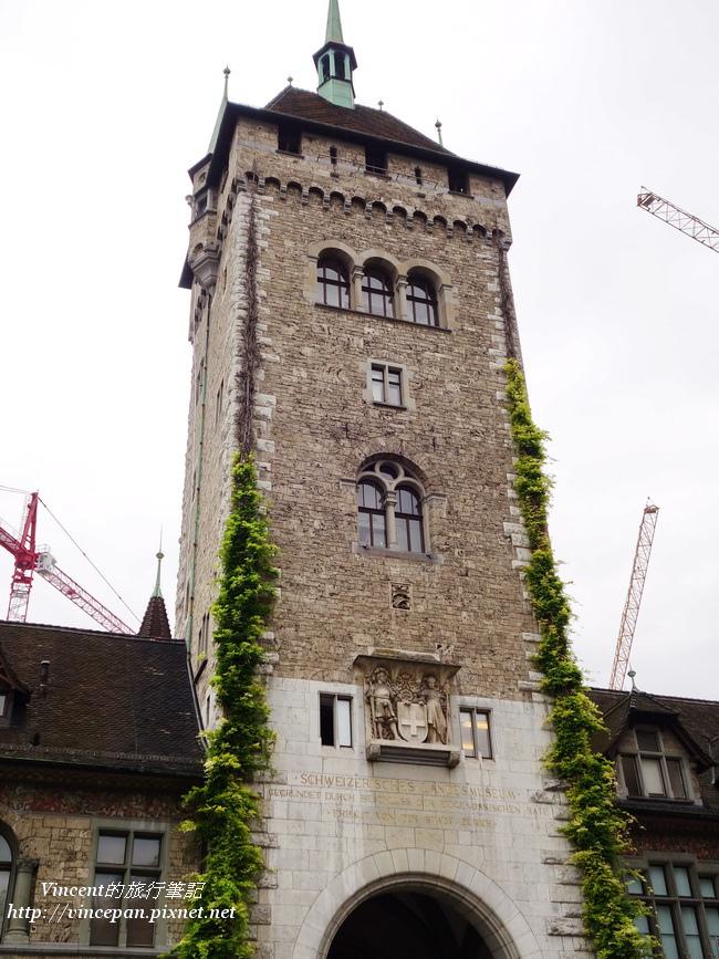 瑞士國立博物館 入口塔樓