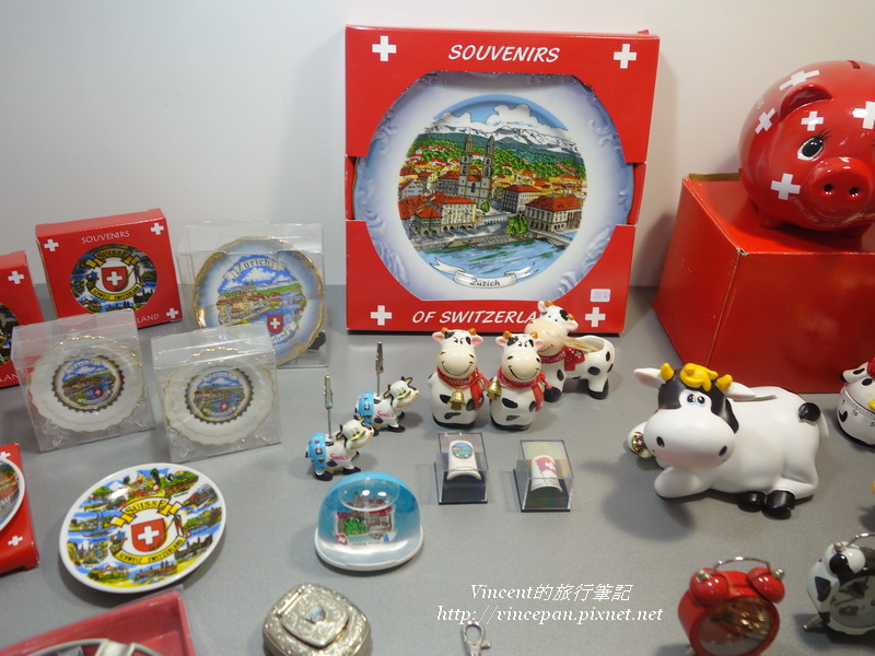 瑞士的可愛紀念品