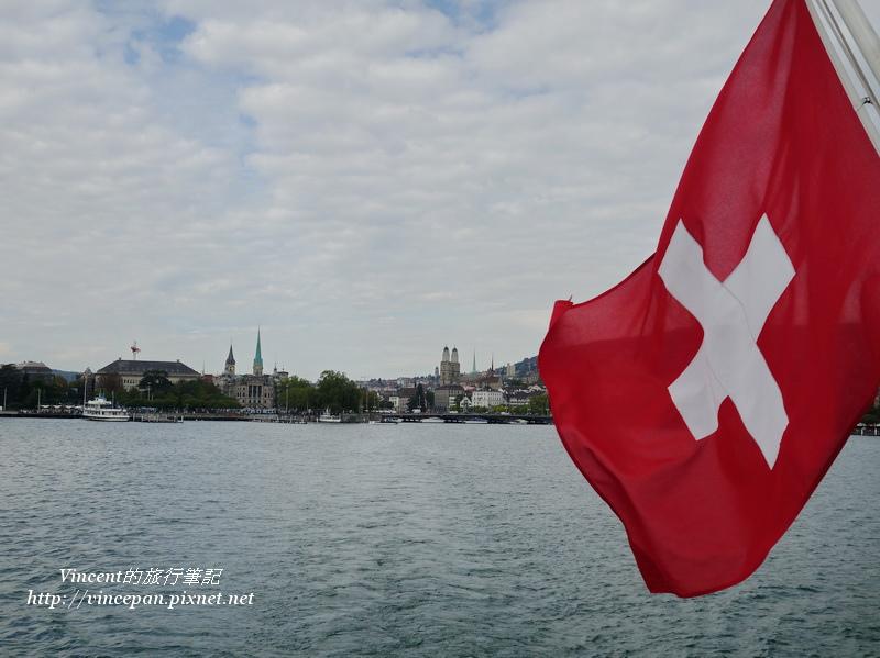 瑞士國旗飄揚
