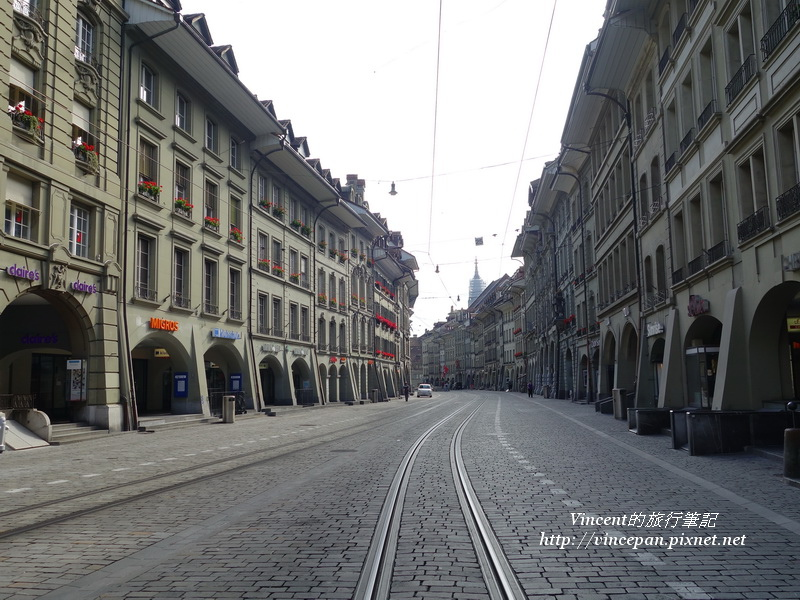 市場街石板路