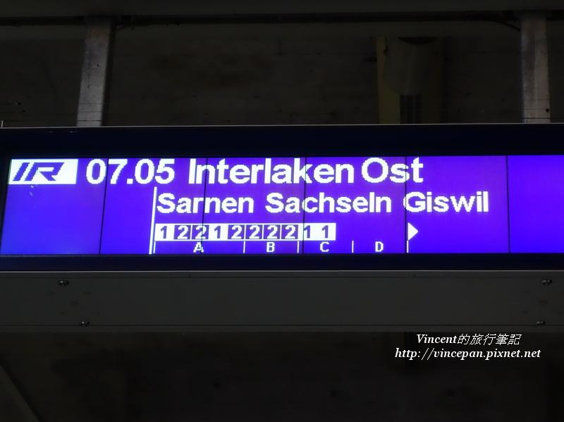 七點由琉森to Interlaken