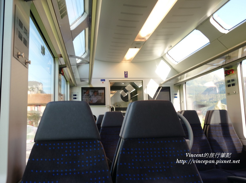 Luzern-interlaken Express 車廂