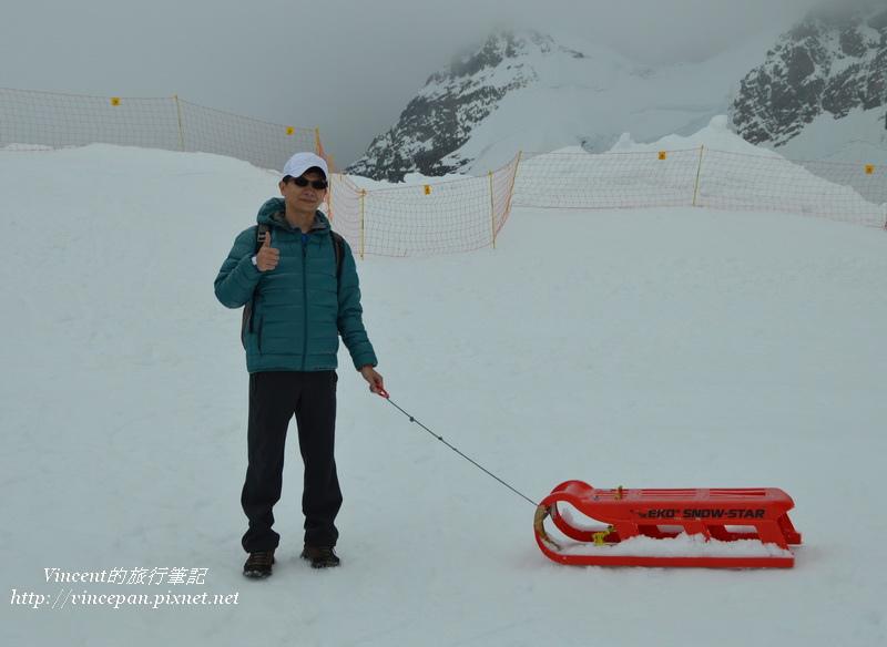 少女峰玩雪橇