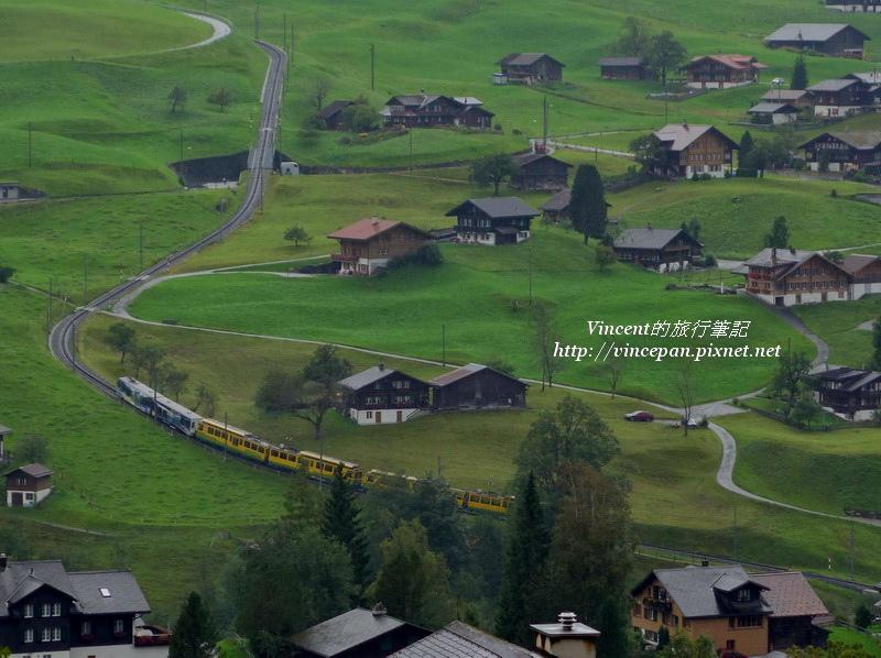 格林德瓦山坡 火車