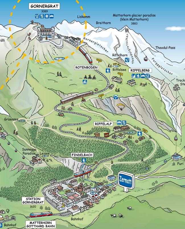 Zermatt上山路線