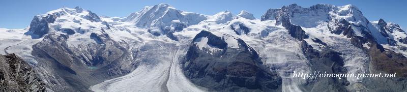 山峰 冰河 全景1