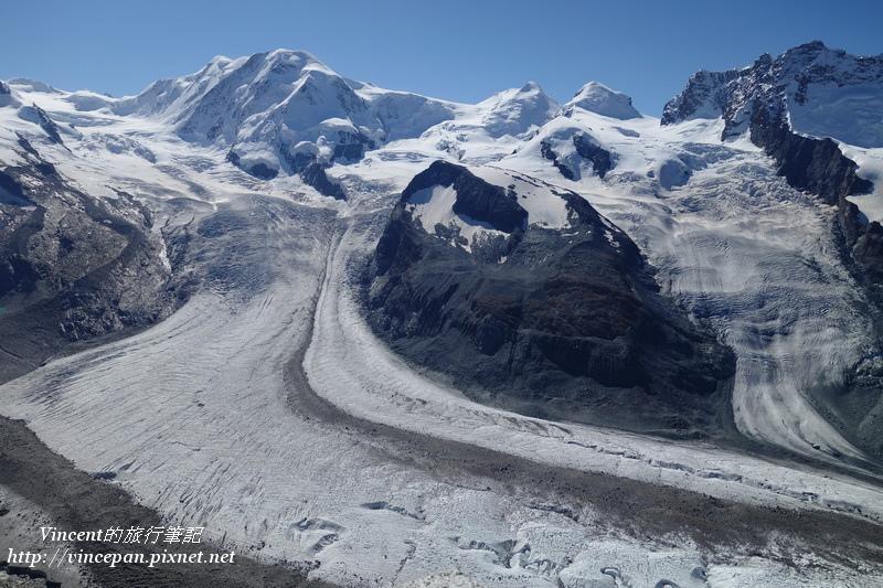 利斯卡姆峰 雙子峰 冰河1