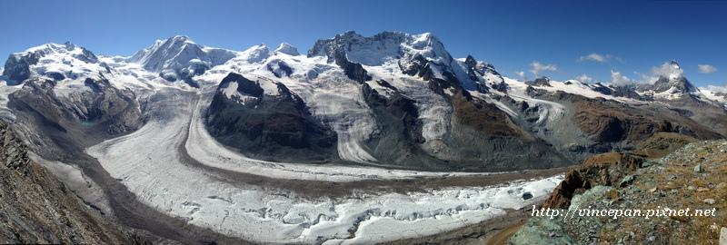 馬特洪峰 冰河 全景1