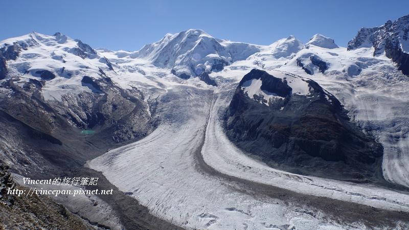 羅莎峰  利斯卡姆峰冰河