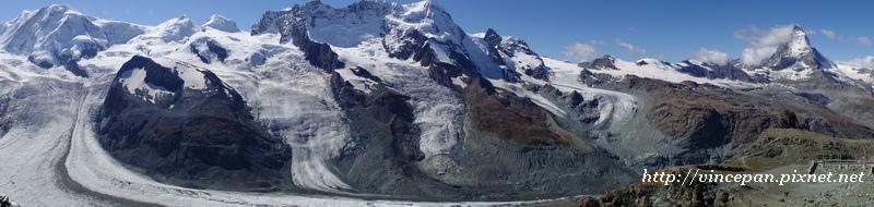 馬特洪峰 冰河 全景2
