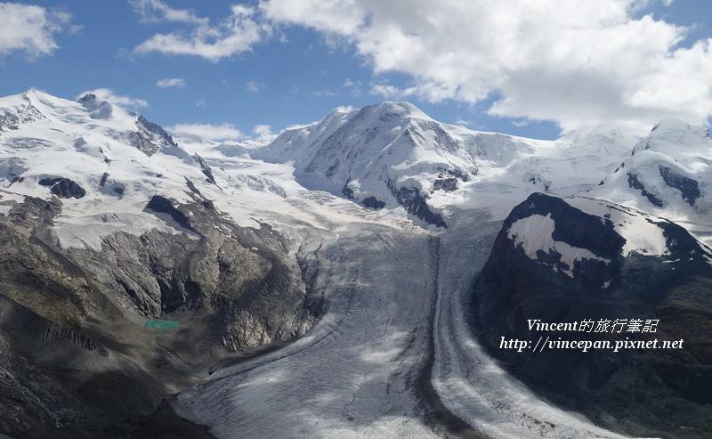 羅莎峰  利斯卡姆峰冰河2