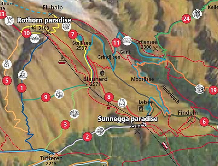 Zermatt五湖健行路線