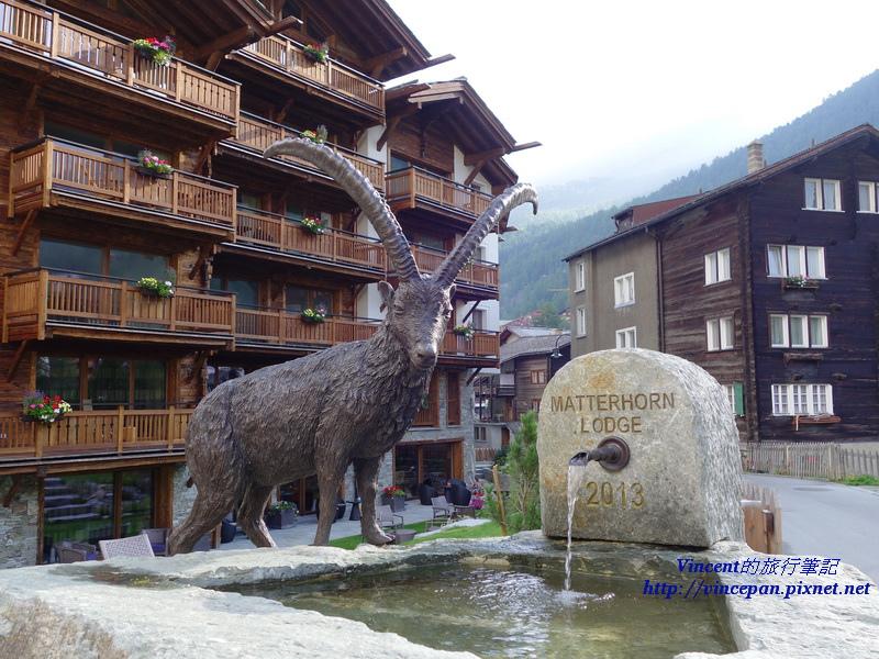 長角山羊的噴泉