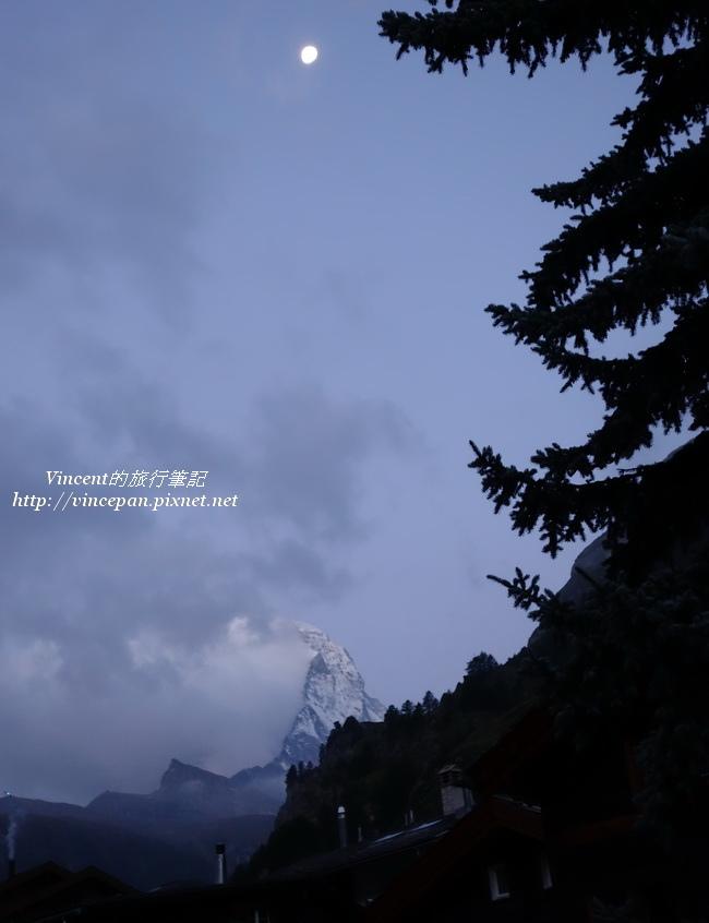 馬特洪峰 月亮