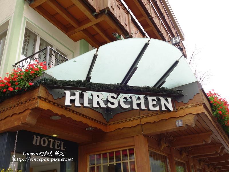 Hotel Hirschen 招牌