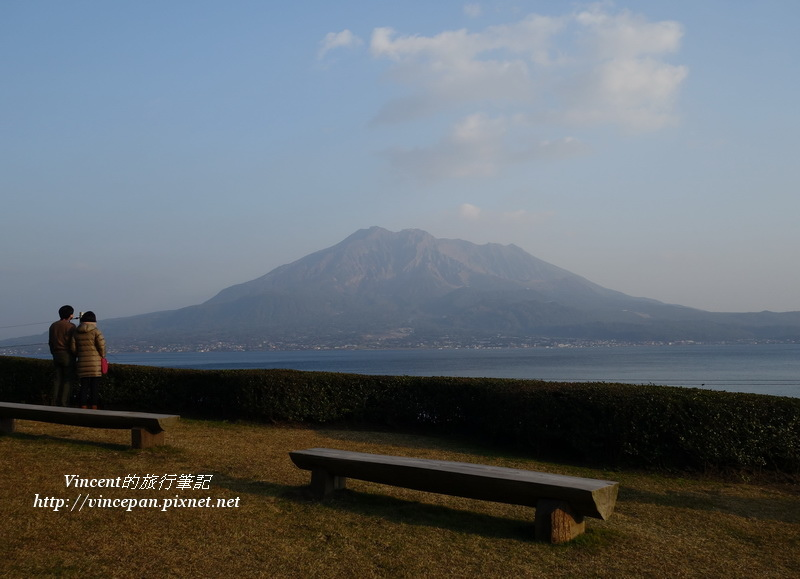 櫻島火山 椅子