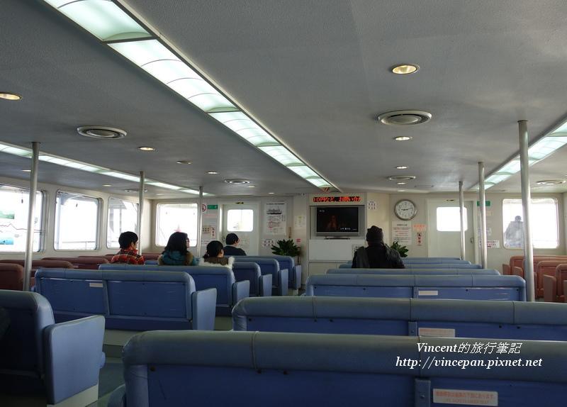 櫻島渡輪內