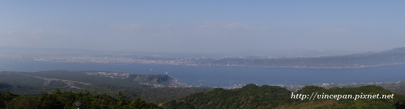 全景模式拍攝錦江灣