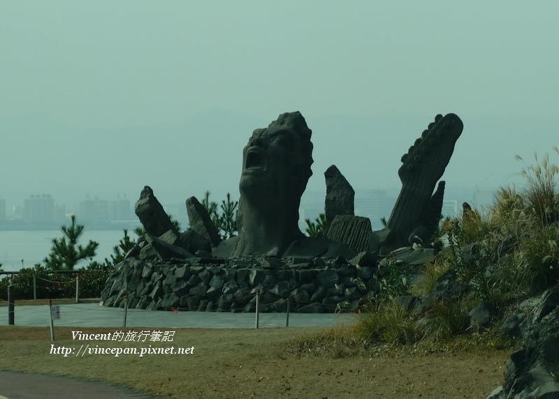 長渕剛 熔岩雕像