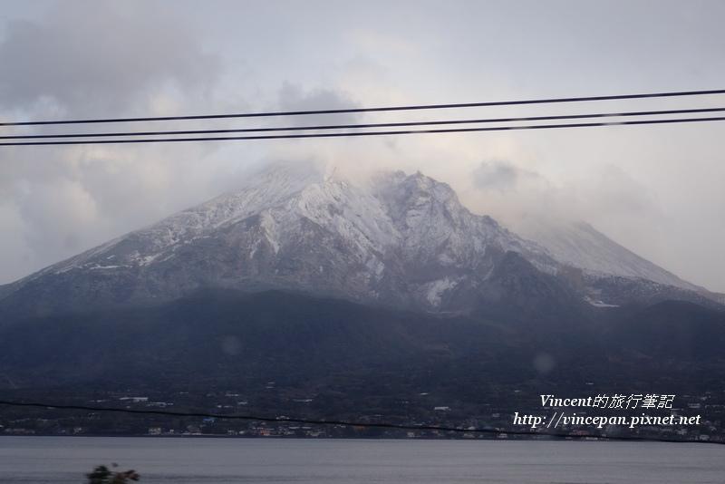 櫻島火山 積雪