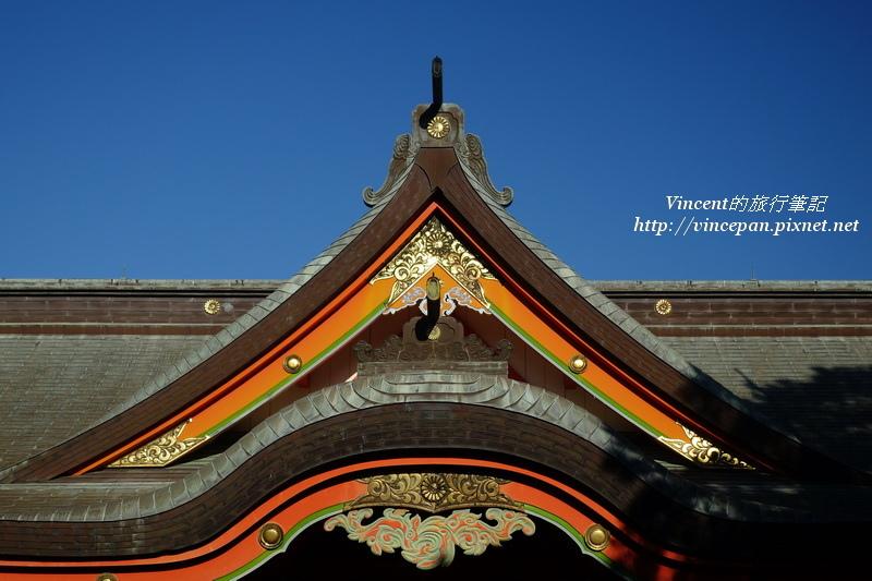 青島神社 屋頂