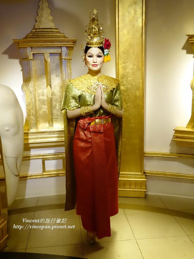 泰式建築與女子