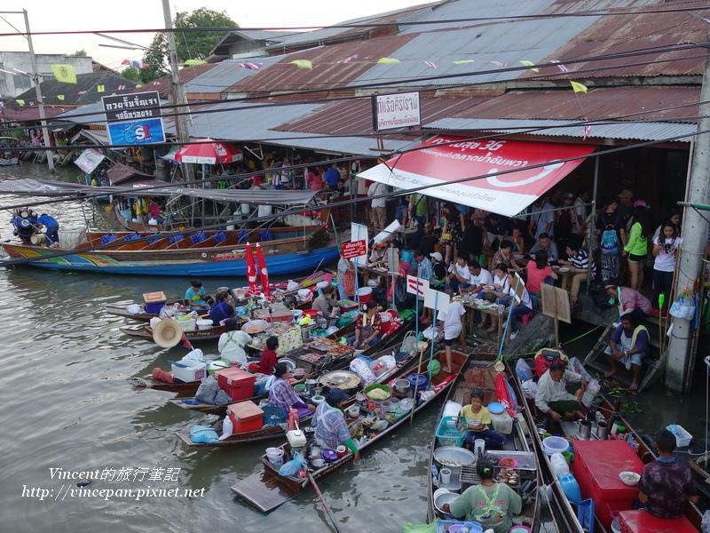 安帕瓦水上市場 海鮮小舟