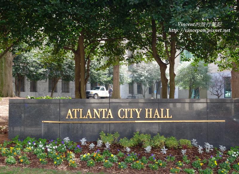 Atlanta City Hall 立牌