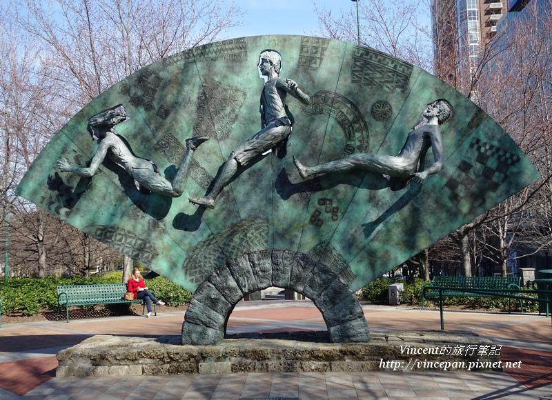 扇形運動雕刻