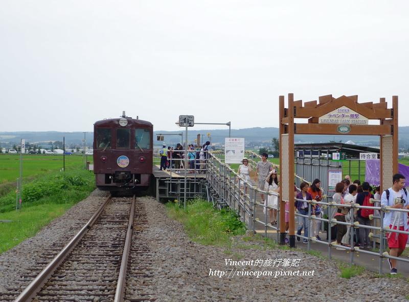 ラベンダー畑駅 遊客