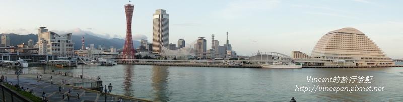 神戶港區全景照