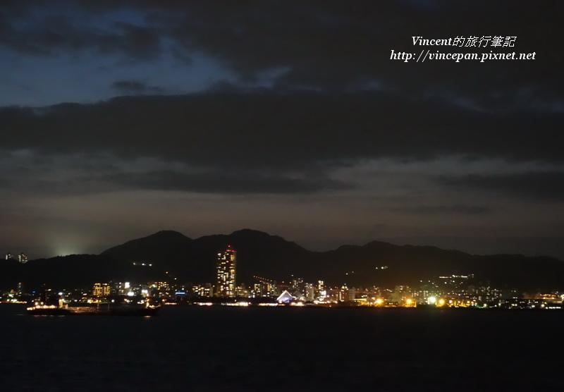 港區建築  夜
