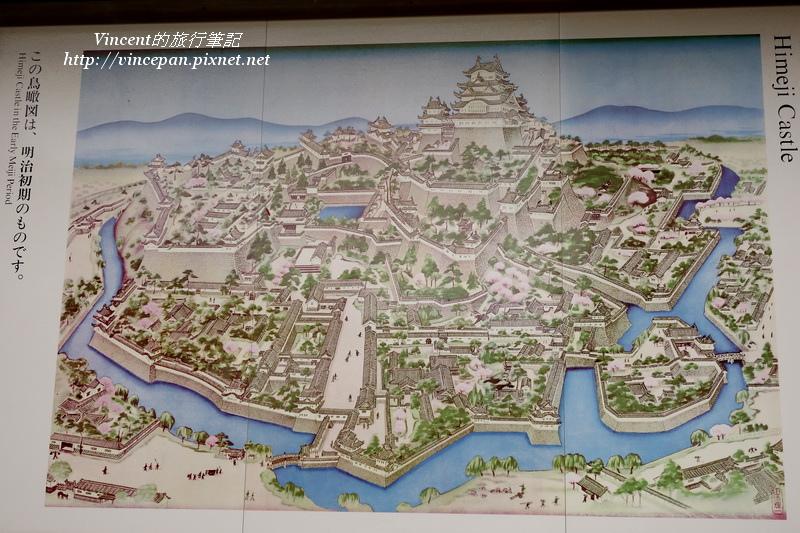 姬路城鳥瞰圖