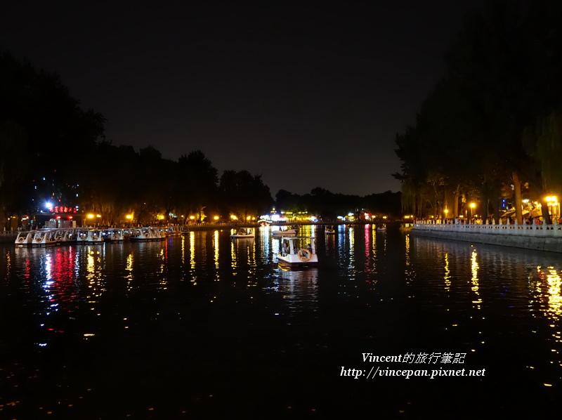 什刹海 夜 湖邊2