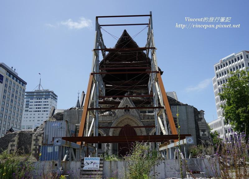 基督城大教堂  鋼構