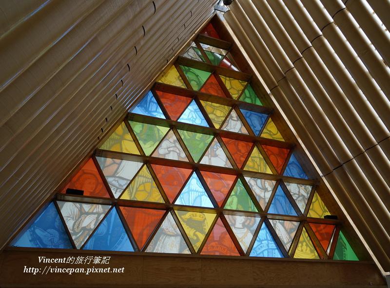 Cardboard Cathedral彩繪玻璃2