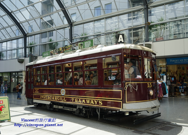 Tramway in mall