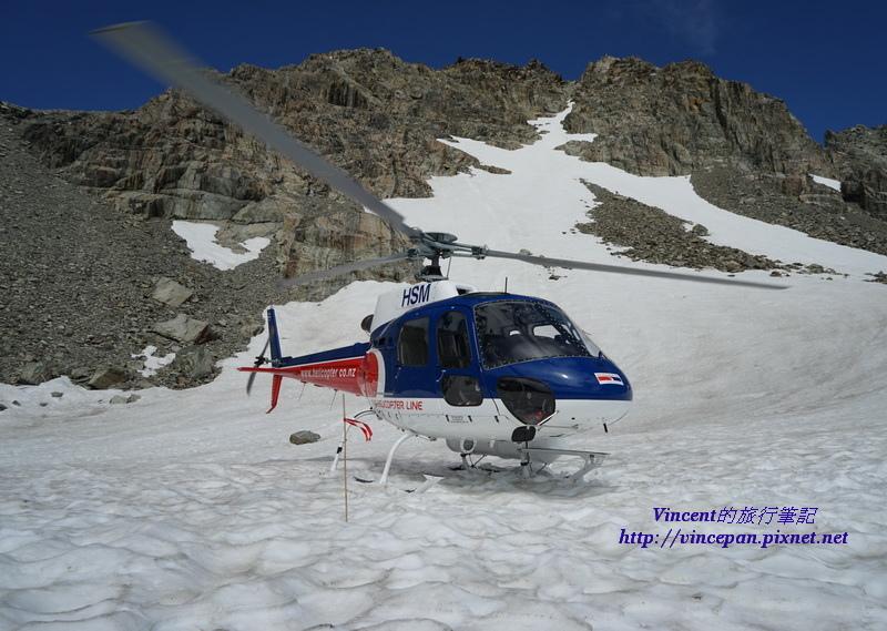 直升機降落冰河