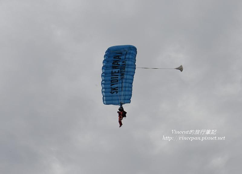 高空跳傘 天空