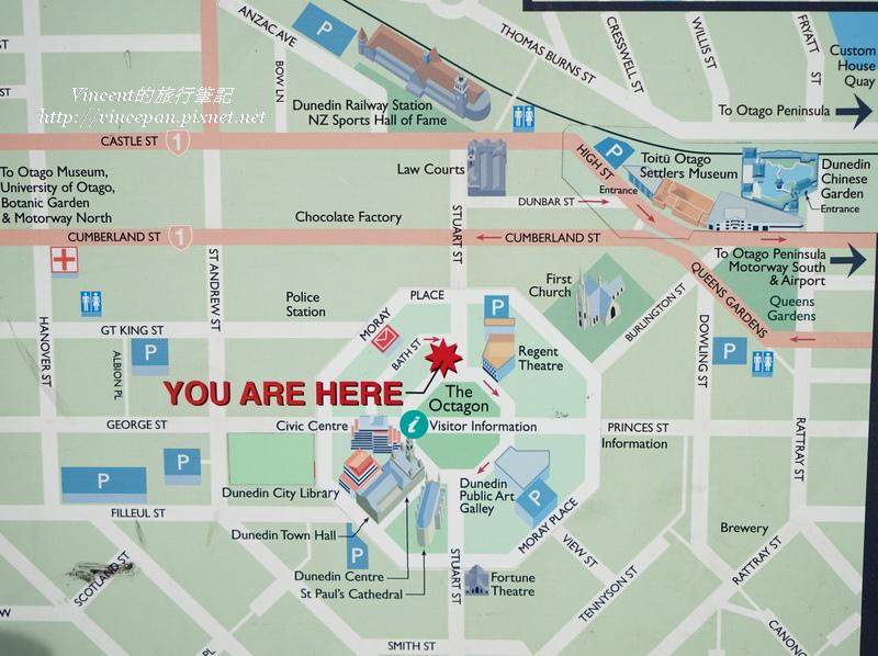 但尼丁市地圖