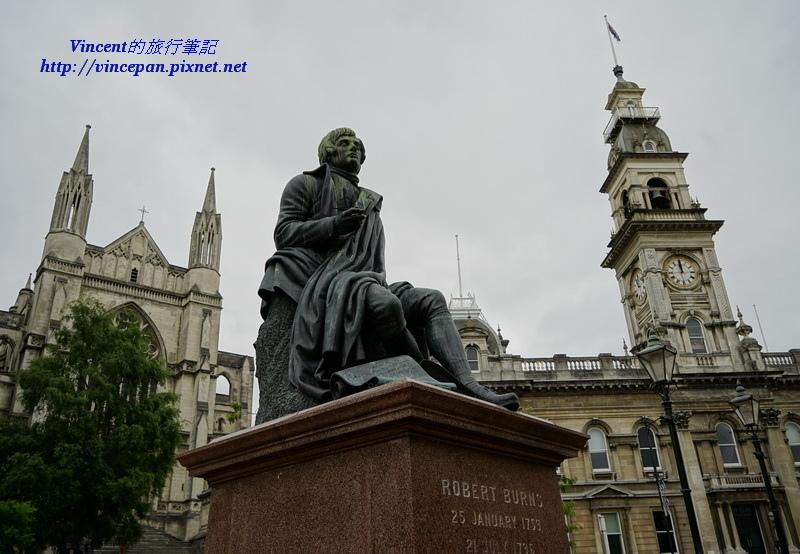 羅博•博恩斯雕像