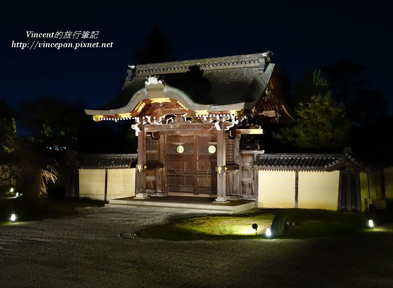 大覺寺唐門 側