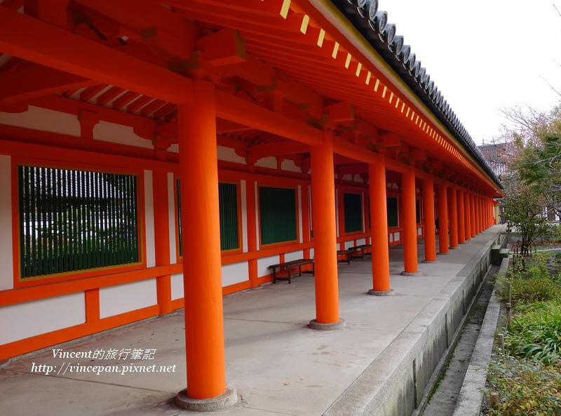 橘紅色的迴廊