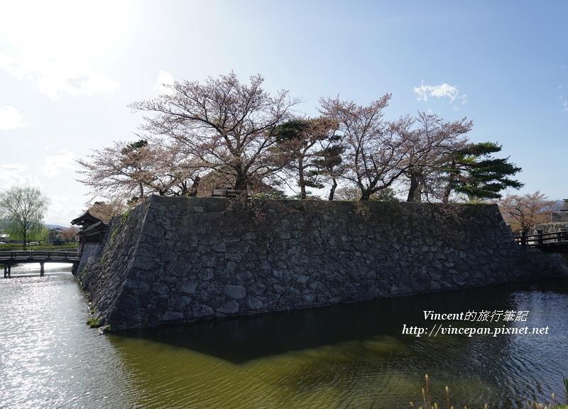 松代本丸城牆櫻花