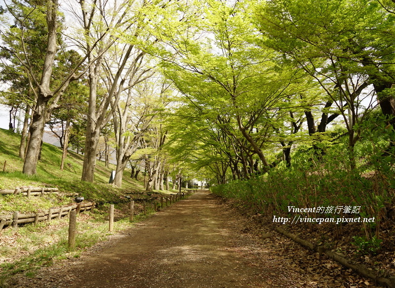 上田城 堀步道