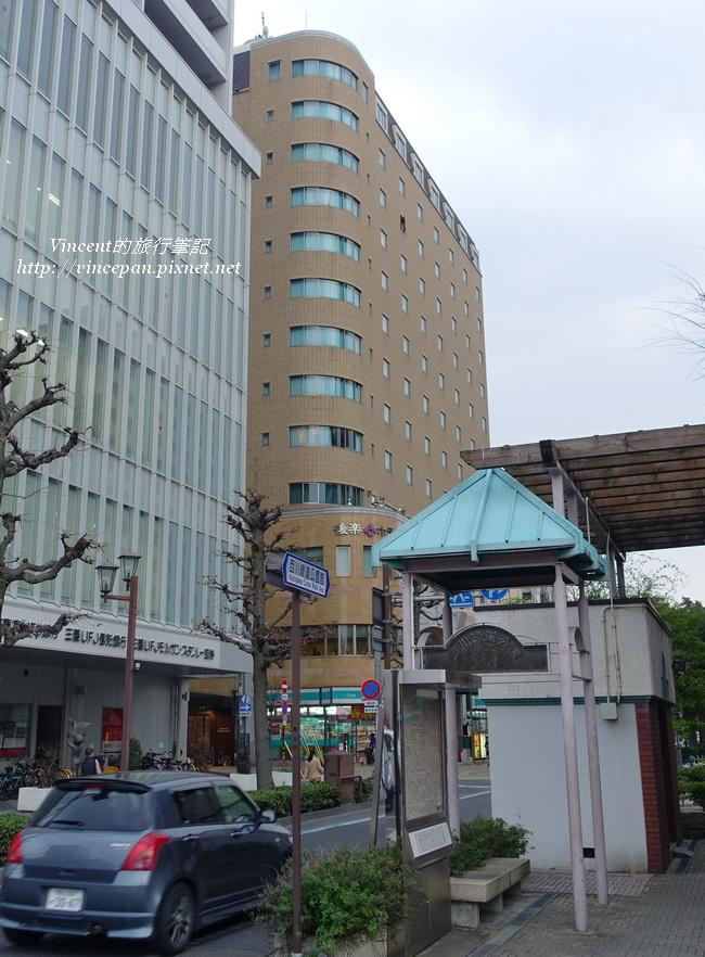 岡山後樂飯店 路口