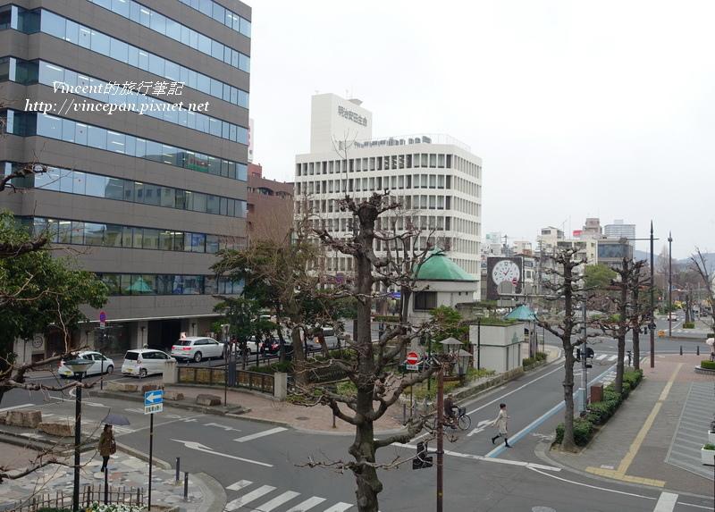 岡山後樂飯店窗外