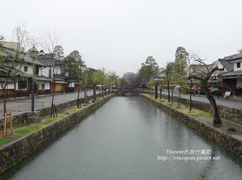 倉敷川  雨中