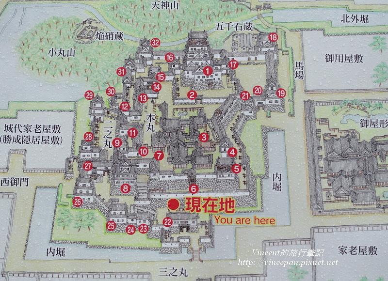 福山城城區圖